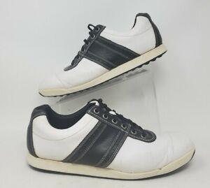 FJ Footjoy Contour Casual White Black Golf Spikeless Shoes 54086 Mens Size 11 M