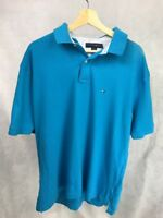 Tommy Hilfiger Classic Fit Mens Polo Blue XL Short Sleeve