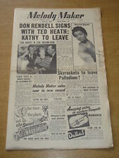 MELODY MAKER 1955 JULY 23 DON RENDELL NANCY HOLLOWAY SKYROCKETS PALLADIUM +