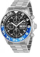 Invicta 22820 Swiss Valjoux 7750 Automatic Chronograph Black Blue Bezel Watch