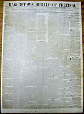 1850 newspaper with THE GREAT SAN FRANCISCO FIRE of May 1850 described in detail