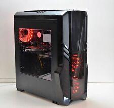 RGB GAMING PC INTEL QUAD i5 3.2GHz 8GB DDR3 240GB SSD 6GB GTX 1660 Windows 10
