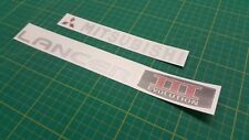 Mitsubishi Evolution Lancer Evo 3  decals stickers graphics restoration