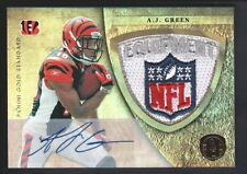 A.J. GREEN 2011 PANINI GOLD STANDARD RC ROOKIE AUTO NFL LOGO PATCH JERSEY SP 1/1