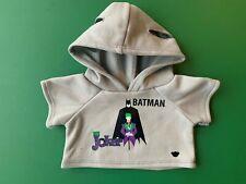 Build a Bear Full Size Teddy Bear Clothing - Batman™ and The Joker™ Hoodie - NEW