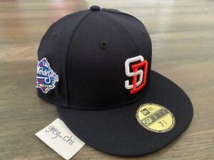 NEW ERA SAN DIEGO PADRES 1998 World Series Side Patch Hat 7 3/8 Club Tony Gwynn