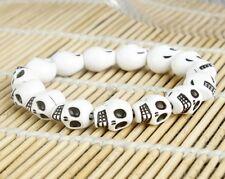 Korean men and women fashion white Skull Bracelet Couple Bracelet Bracelet A+