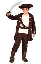 Disfraz pirata niño infantil marron talla 4 5 6 años con hebilla oxidada
