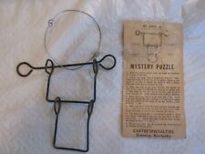D215 Antique Magic Trick, Wire Puzzle, 4 Pcs linked together, Instructions