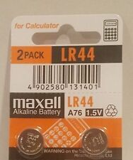 2 NEW LR44 MAXELL A76 L1154 AG13 357 SR44 303 BATTERY FREE SHIPPING FROM USA