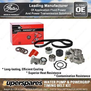 Gates Water Pump & Timing Belt Kit for Subaru Forester SH Legacy Liberty Outback