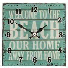 kleine Uhr  Clayre Eef Nostalgie  Shabby Beach Glas Vintage Antik 15*4*15cm