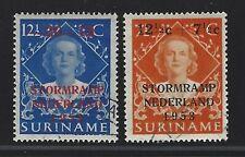 1953 Surinam Scott #B53-B54 - Netherlands Flood Relief Semi-postal Set - Used