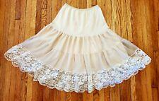 Pinehurst Lingerie Vintage Beige Petticoat Slip Size S