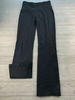 *Prana Pillar Black Mid Rise Workout Straight Yoga Pants Leggings Size Small