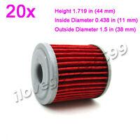 20x Oil Filters For KAWASAKI KX250 2006 2007 2008 KX250F 2004-2015 KX450F 2016