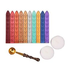 Outus Antique Sealing Wax Sticks Set without Wicks Retro Spoon and Candles fo...