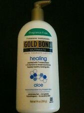 Gold Bond Ultimate Healing Fragrance Free Lotion 14 oz. -- three bottles