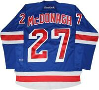 """Ryan McDonagh New York Rangers Signed Blue Jersey With Captain's """"C"""