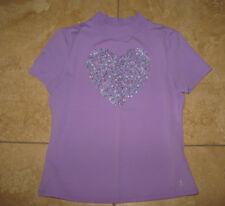 Lands' End  Kids Girls  Purple Board Swim UPF 50 Shirt S/S Medium 10-12