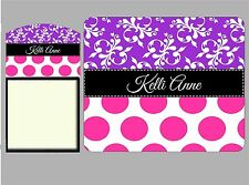Swirl and Dots Personalized Post It Sticky Note Holder and Mousepad Set