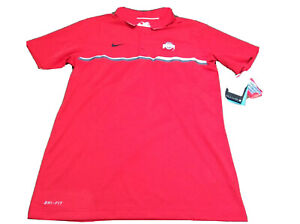 NEW W/Tags Ohio State Buckeyes Nike Golf Polo Shirt Mens Small Football Red