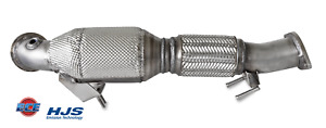90815010 HJS ECE Downpipe Ford Focus 2.0 184 kw R9DC 70mm Euro 6