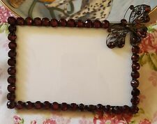 """Purple Rhinestone Butterfly Picture Frame 3"""" X 5"""" Photo  by Two's Company"""