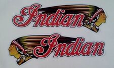 2 x INDIAN MOTORCYCLE fuel tank 15cm VINYL STICKER / DECAL CHOPPER scout chief