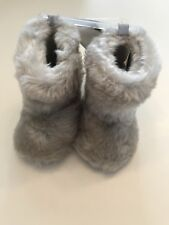 613d15c70e63 First Impressions Baby Girl Faux Fur Boots Light Gray Size 2 or 3-6 months