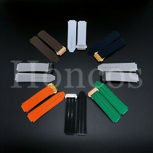 24 x 18 MM Rubber Lined Watch Strap Band For Hublot Big Bang Classic Fusion 2021