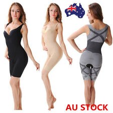 AU Slimming Bamboo Underbust Shapewear Shaper Corset Full Body Control Bodysuit