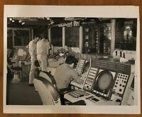 Men Work In Combat Information Center of Nuclear Powered USS Nimitz CVN-68 11/76
