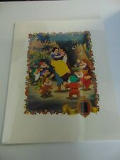 SNOW WHITE DISNEY LITHOGRAPH 35MM FILM CELL PRINT #1107/2500 GM791