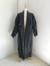 Large Echoes Leder Black Leather Matrix Style Long Coat