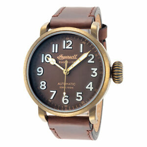 Ingersoll Men's I04801 Linden Brown Dial 46mm Leather Watch