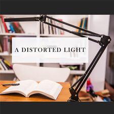 Swing Arm Clamp Table Desk Lamp Light Office Home Lighting Fixture Black