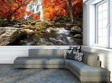 Autumn - Waterfall  Wall Mural Photo Wallpaper GIANT WALL DECOR Paper Poster