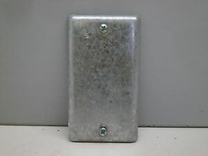 """Hubbell Raco 860 Steel Blank Utility Outlet Handy Box Cover 2-5/16"""" x 4-3/16"""""""