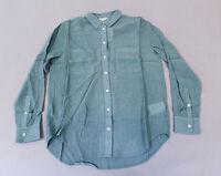 Club Monaco Women's Long Sleeve Chemise Claudia Shirt GG8 Green/Vert Size XS NWT