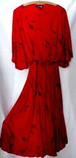JEAN MUIR London rotes Haute Couture Kleid  Gr. 42/44 oversized UK 14 USA 42