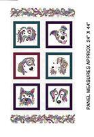 "Dog On It 100% Cotton Quilt Fabric Panel Benartex Panel Measures 24""X44"""