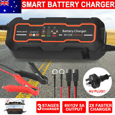 5A Automatic Smart Battery Charger 12V/6V SLA AGM Car Motorbike Boat Deep Cycle
