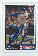 Brad Wilkerson Signed 2003 Topps Total Card #72
