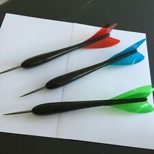 """Vintage Whitman ACE BLACK Darts with Blue Green Red Plastic """"Feathers"""" 1950s"""