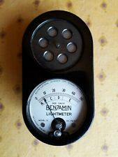Benjamin Lightmeter model B in leather pouch & original box + instructions