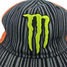 Monster Energy  DC Snapback Hat Ken Block #43 Black Orange Gray