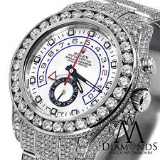 Men's Diamond Rolex Watch Yacht-Master II 2 116680 White Dial Automatic