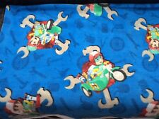 """HANDY MANNY NUTS & TOOLS BY SPRINGS CREATIVE FLEECE FABRIC, 60""""w, sold BTY"""
