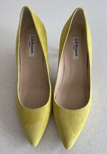 L K Bennett Suede Heeled Shoes 6/39